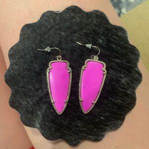 Kendra Scott Pink Arrowhead earrings